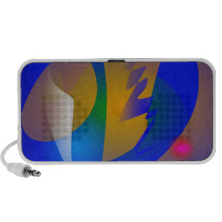 Striking Blue Abstract Art PC Speakers