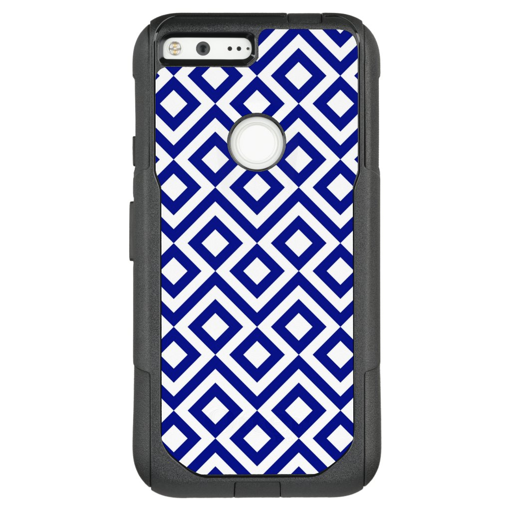 Striking Blue and White Meander OtterBox Commuter Google Pixel XL Case