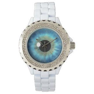 Striking Blue Eye Iris Eyeball Custom Wrist Watch