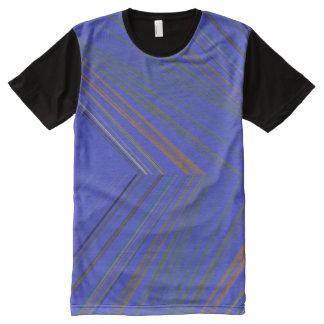 Striking Blue Stripes All Over TShirt