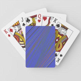 Striking Blue Stripes Playing Cards