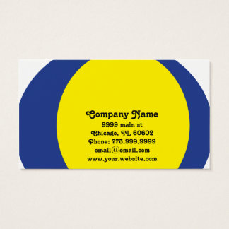Striking Blue & Yellow Circular Modern Design Business Card