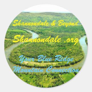 Striking Button Classic Round Sticker
