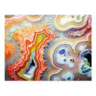 Striking Colourful Agate Gemstone Postcard