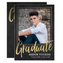 Striking Confidence Graduation Invitation
