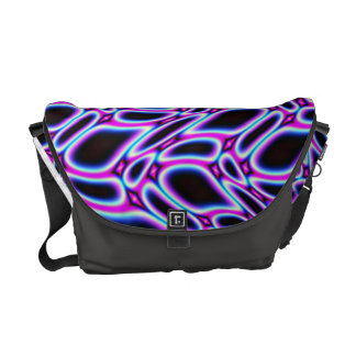Striking Fractal Pattern Courier Bag