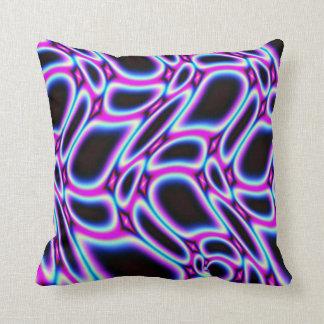 Striking Fractal Pattern Throw Pillow