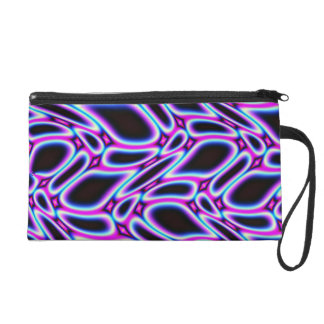 Striking Fractal Pattern Wristlet Purse