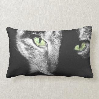 Striking Green Eyed Tortoiseshell Cat Pillow