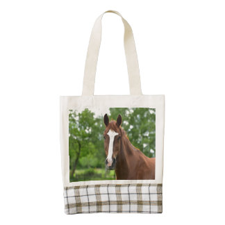 Striking Horse Face Zazzle HEART Tote Bag