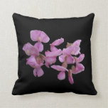 Striking pink blossom accent pillow