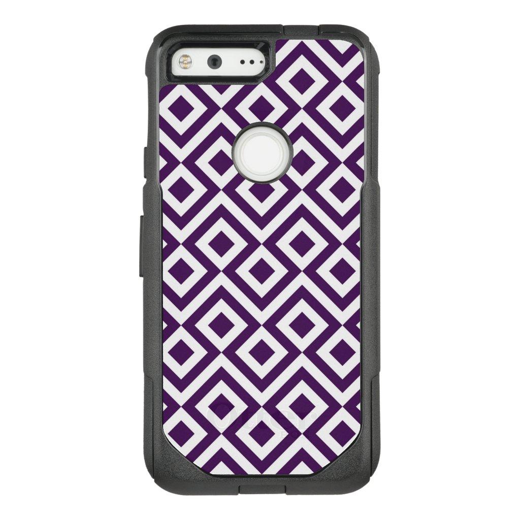 Striking Purple and White Meander OtterBox Commuter Google Pixel Case