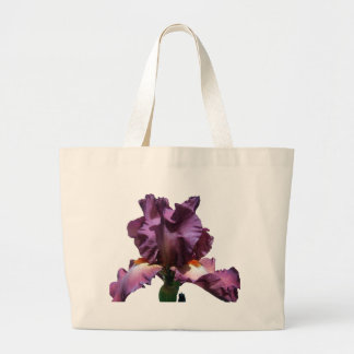 Striking Purple Iris Large Tote Bag