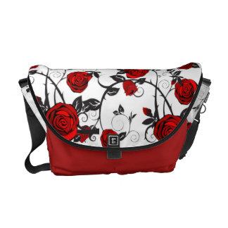 Striking rose messenger bag