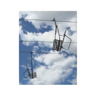 Striking Ski Lift and Sky Metal Photo Print