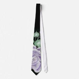 Striking Sterling Silver Rose Tie