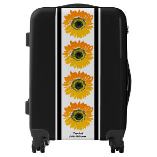 Striking Sunflowers Personalized Floral Luggage