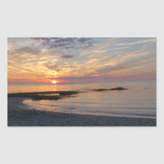 Striking Sunset over Cape Cod Photo Stickers