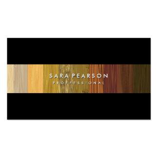 Striking Wood Panel Stripe BusinessCard Business Card