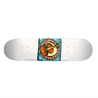 String Bass Abstract Graphic Image Design Skateboard Deck