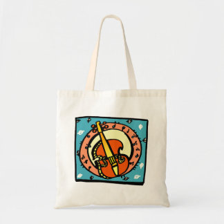 String Bass Abstract Graphic Image Design Tote Bag