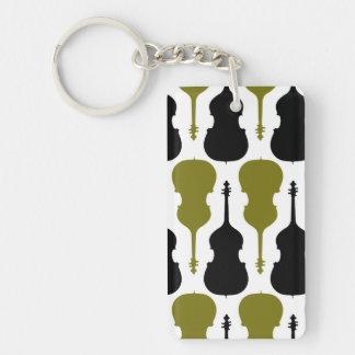 String Bass Double-Sided Rectangular Acrylic Keychain
