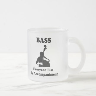 String Bass Gift 10 Oz Frosted Glass Coffee Mug