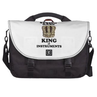 String Bass King of Instruments Laptop Bag