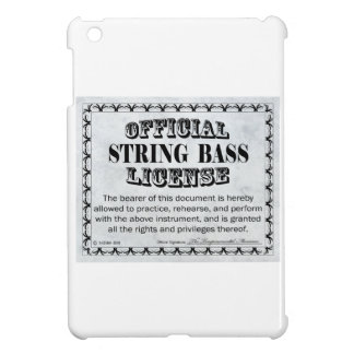 String Bass License Case For The iPad Mini