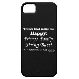 String Bass Makes Me Happy iPhone SE/5/5s Case