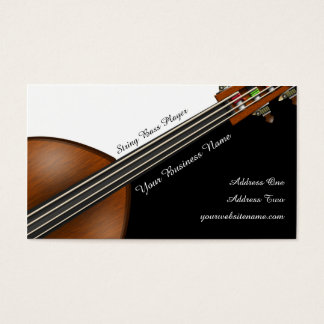 String Bass Player Business Card