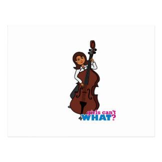 String Bass Player Girl - Dark Postcard