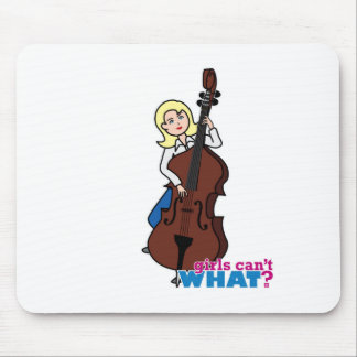 String Bass Player Girl - Light/Blonde Mouse Pad