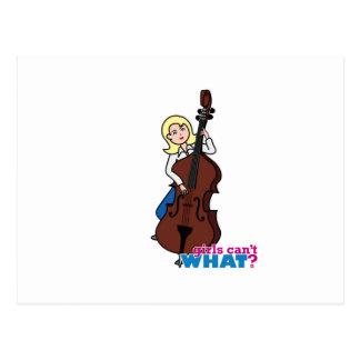 String Bass Player Girl - Light/Blonde Postcard