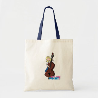 String Bass Player Girl - Light/Blonde Tote Bag