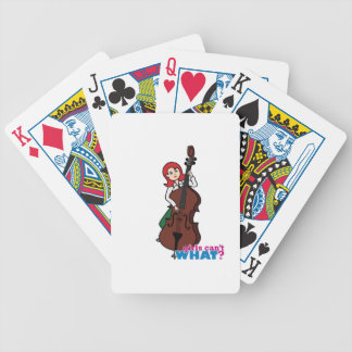 String Bass Player Girl - Light/Red Bicycle Playing Cards