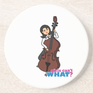 String Bass Player Girl - Medium Drink Coaster