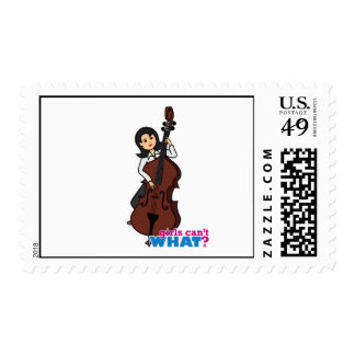 String Bass Player Girl - Medium Postage