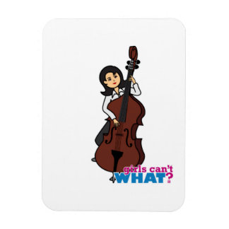 String Bass Player Girl - Medium Rectangular Photo Magnet