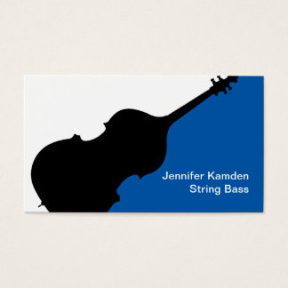 String Bass Teacher Business Cards