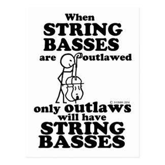 String Basses Outlawed Postcard