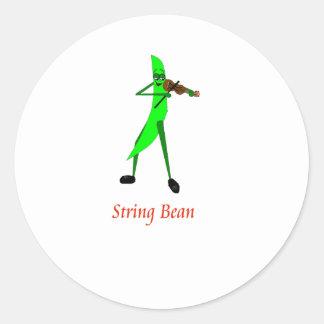 String Bean Classic Round Sticker