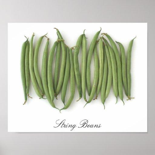 String Beans Framed Posters