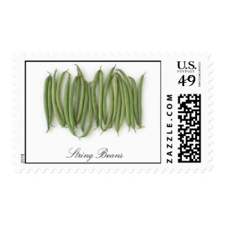 String Beans Postage Stamps