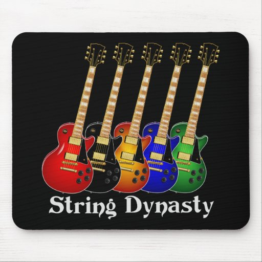 String Dynasty Electric Guitar Mouse Pad