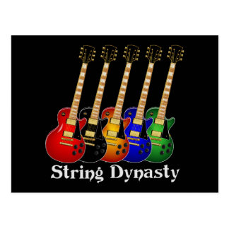 String Dynasty Electric Guitar Post Card