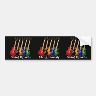 String Dynasty Electric Guitars Car Bumper Sticker