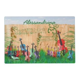 String Ensemble Colorful Garden Custom Name Placemat