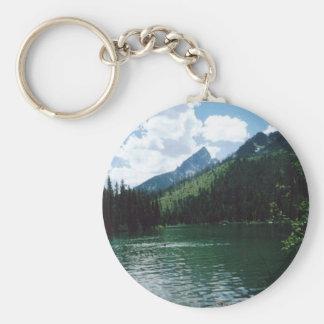 String Lake- Grand Teton, Wyoming Basic Round Button Keychain