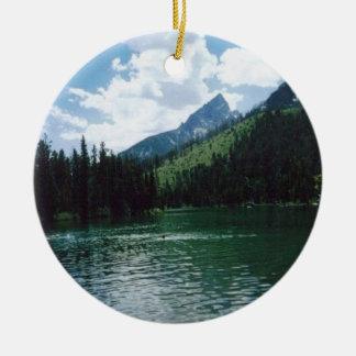 String Lake- Wyoming Ceramic Ornament
